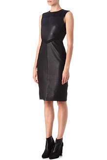 REISS Amis leather dress