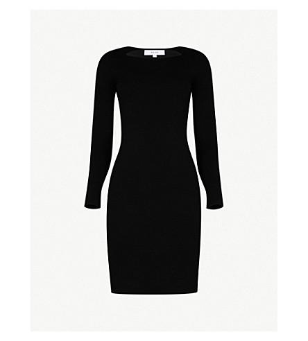 REISS Audrey knitted mini dress (Black