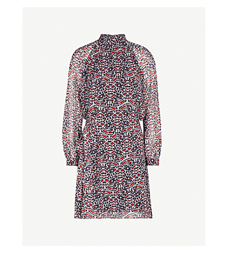 REISS Avis abstract-print chiffon dress (Multi