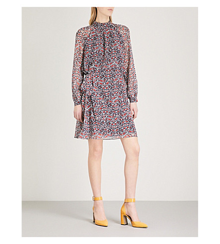 REISS Avis abstract-print chiffon dress (Multi