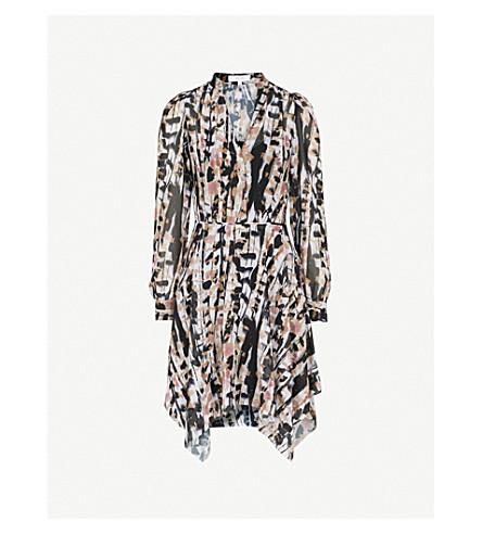 REISS Maine abstract-print chiffon dress (Multi