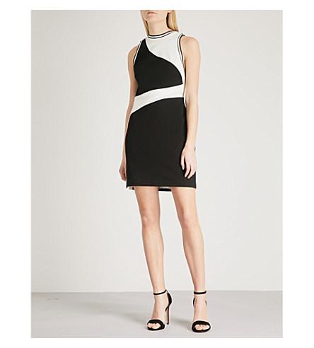 REISS Willa cutout jersey mini dress (Off+white/black