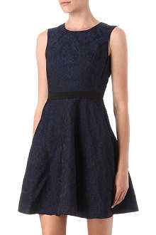 REISS Natalie two-tone lace dress