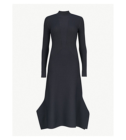REISS Amanda ribbed-knit dress (Night+navy