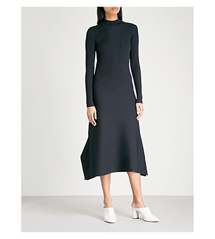 REISS Amanda ribbed-knit dress (Night+navy