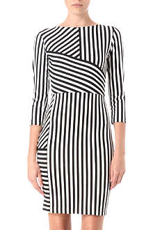 REISS Carter jersey stripe dress