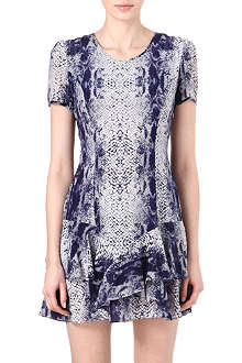 REISS Roe snake-print silk dress