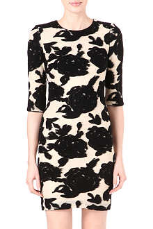 REISS Lavine flower bodycon dress