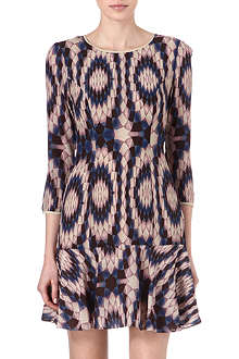 REISS Estelle kaleidoscope-print dress