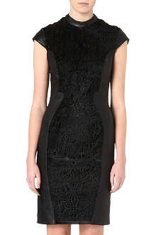 REISS Viola laser-cut detail dress
