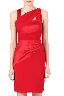 REISS Hermione folded layer dress