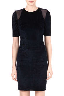 REISS Nessie velvet bodycon dress