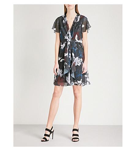 REISS Kate floral-print chiffon dress (Multi