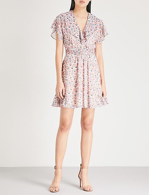 REISS Aime floral-pattern chiffon dress