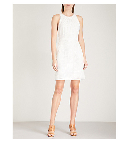 REISS Lydia broderie anglaise dress White Original Cheap Price Enjoy Clearance Deals 9BPmpk