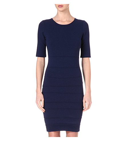 REISS Lugano stretch-jersey dress (Navy