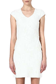 REISS Valentina lace jersey dress