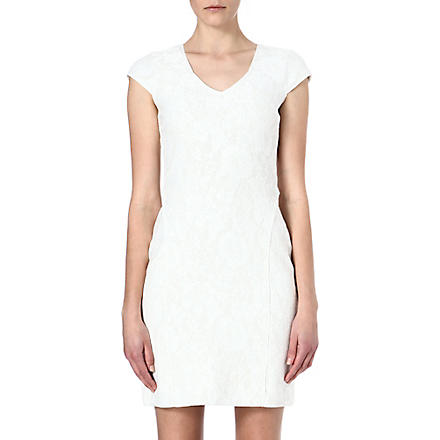 REISS Valentina lace jersey dress (White