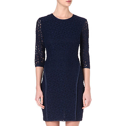 REISS Talia lace dress (Navy