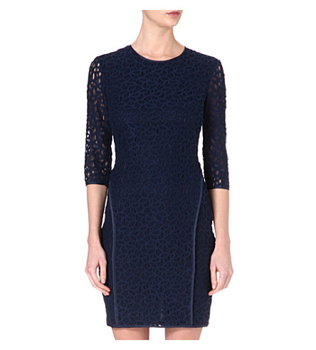 REISS Talia lace dress (Navy