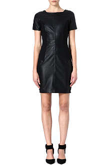 REISS Strasbourg leather dress