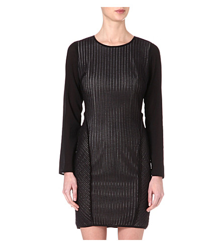 REISS Chloe panelled dress (Black