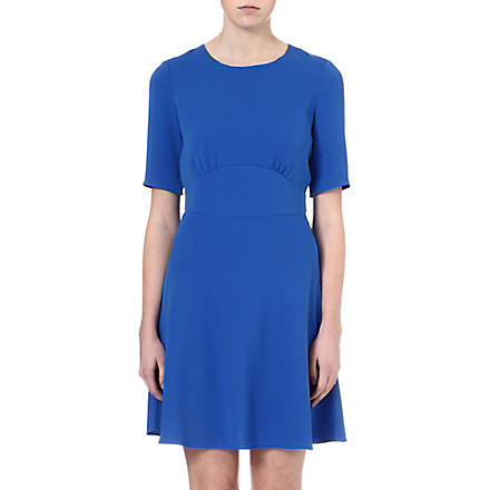 REISS Hedy crepe dress (Indigo