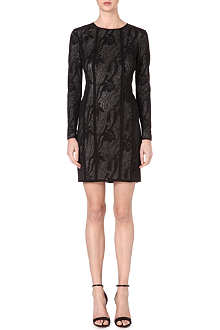 REISS Kitty panelled lace dress