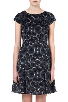 REISS Baker tortoise-print silk dress