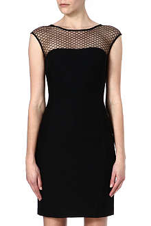 REISS Honeycomb-mesh dress