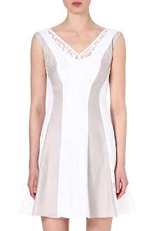 REISS Seville lace-insert dress