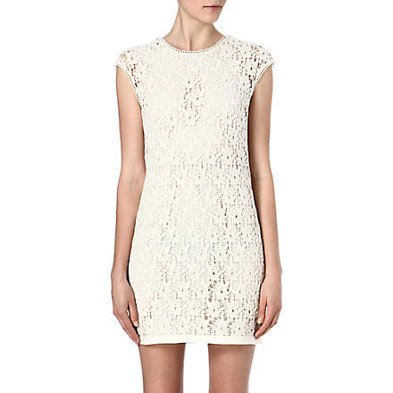 REISS Ciara swift lace dress (Cream
