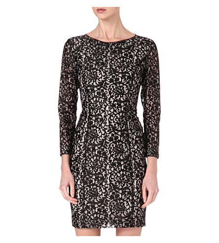 REISS Estefani lace dress (Black