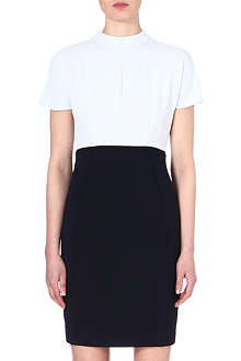 REISS Cipriano two-tone crepe dress