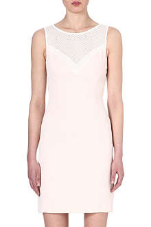 REISS Lansky lace-panel silk dress
