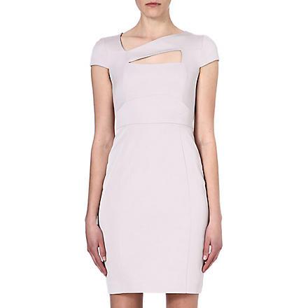 REISS Lorraine cut-out dress (Grey