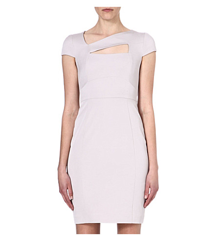 REISS Lorraine cut-out dress (Grey