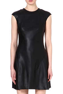 REISS Scanno leather dress
