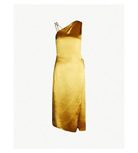 REISS Positano satin dress (Gold