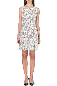 REISS Ivy sheer-panel silk dress