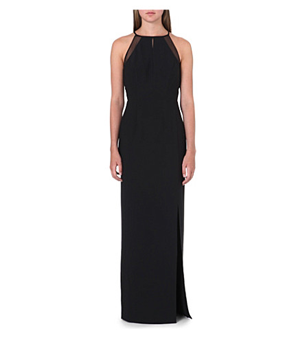REISS Cassini maxi dress (Black