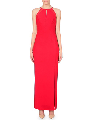 REISS Cassini halterneck maxi dress
