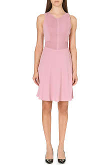 REISS Rosa pintuck-detail crepe dress