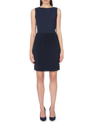 REISS Copper pleated day dress