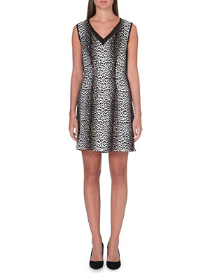 REISS Animal printed silk dress