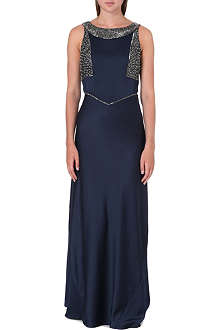 REISS Antibel jewelled maxi dress