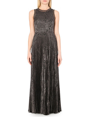 REISS Angelo pleated maxi dress
