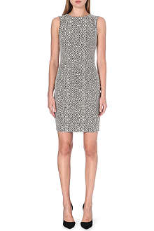 REISS Cindy Ann textured fitted dress
