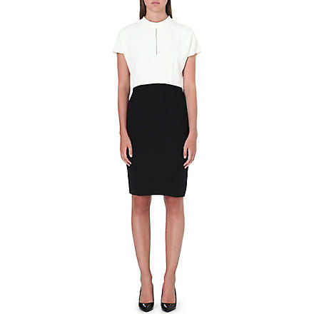 REISS Cipriano keyhole-detail dress (Black/ivory
