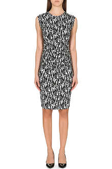 REISS Rica printed jersey dress